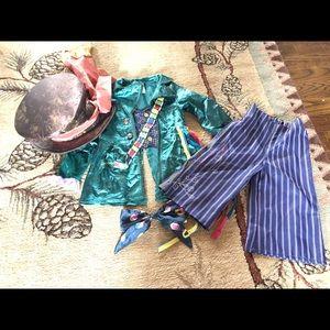 Disney Store Mad Hatter Costume 5t 6t Boy